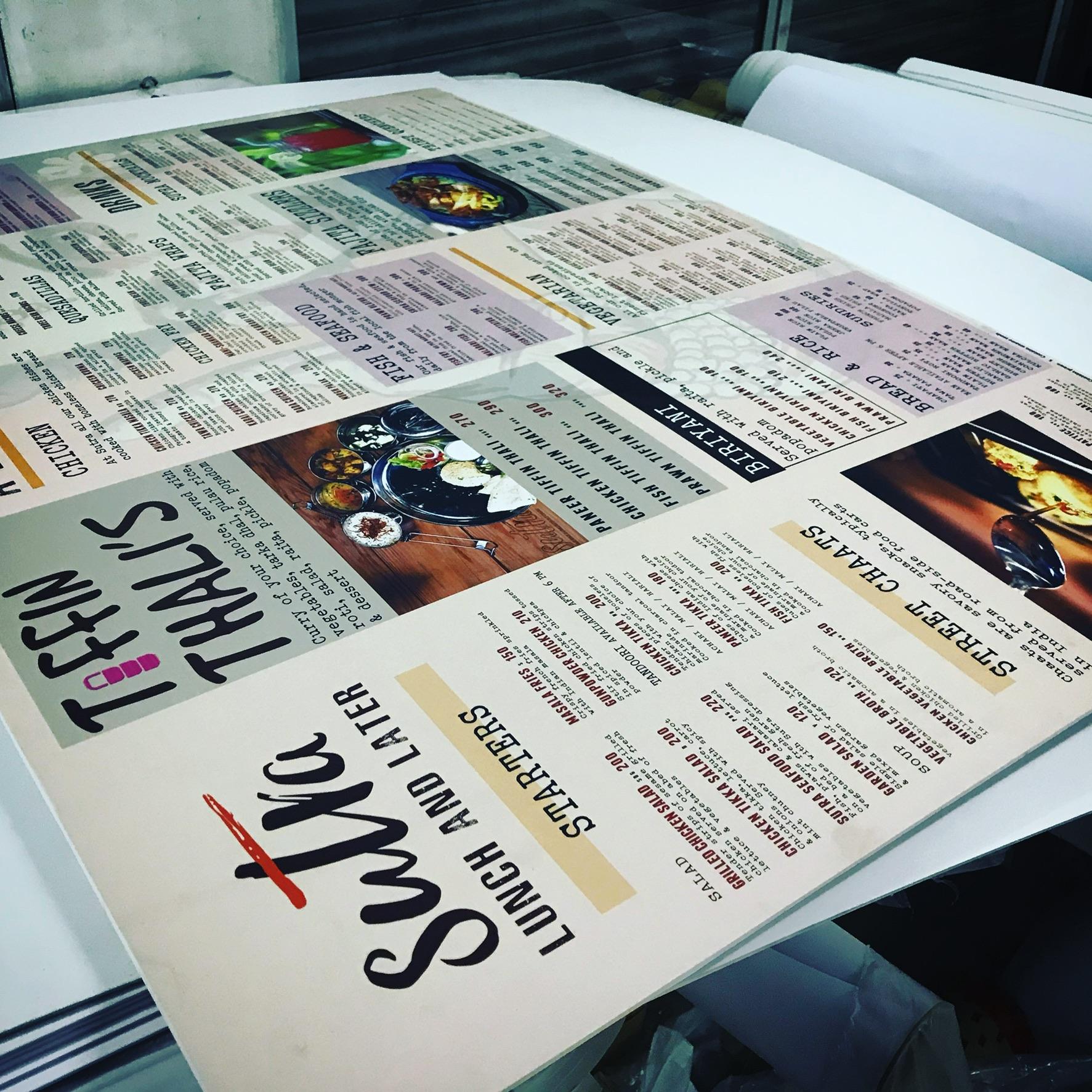 Rigid media printing