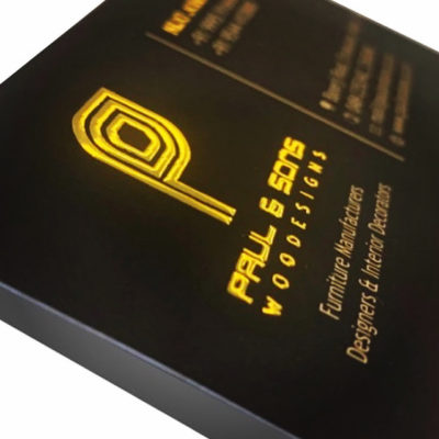 Embossed GOLD and SILVER foiling