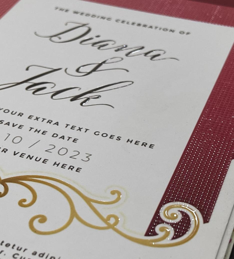 WEDDING CARDS – EMBOSSED