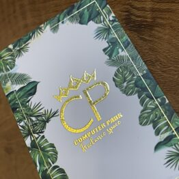 450gsm foiled cards
