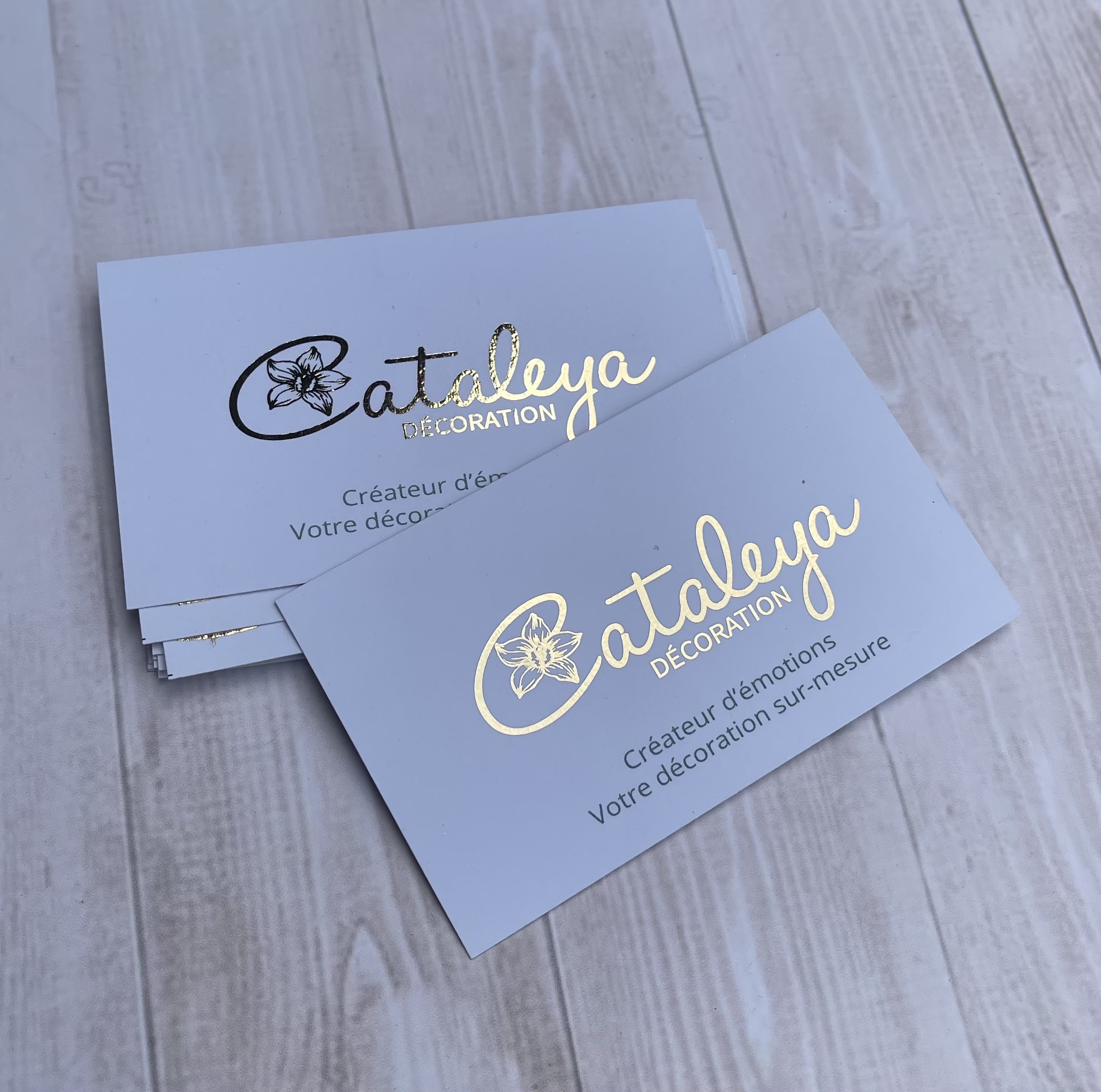 FLAT GOLD FOILED CARDS